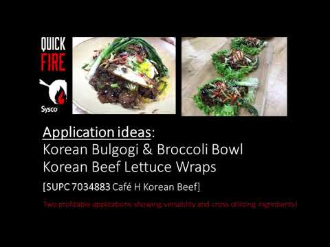 Cafe H Korean Beef - Quick Fire Video