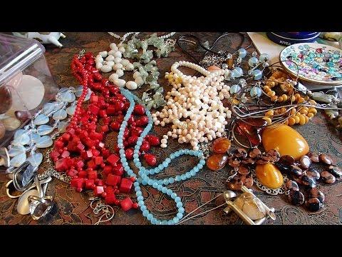 моя коллекция украшений из натуральных камней