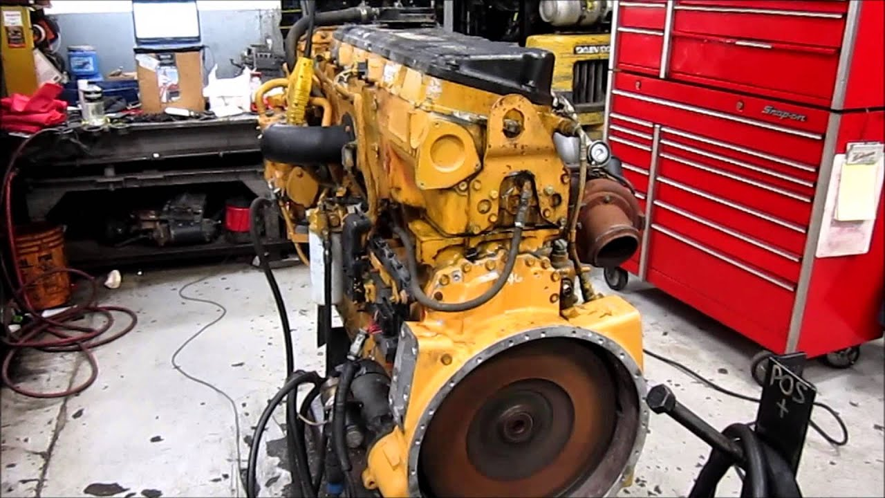 2004 Cat C15 Acert Diesel Engine Running Youtube