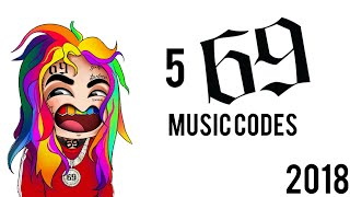 5 6IX9INE ROBLOX music codes (2018)