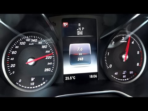 Mercedes C220 CDI 2014 C-Klasse Acceleration 0-100 / 0-200 Test
