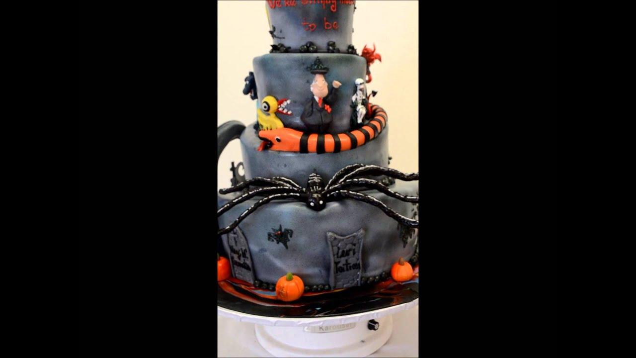 The Nightmare Before Christmas - Custom Halloween theme wedding cake ...
