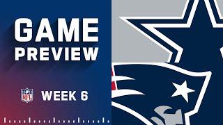 Dallas Cowboys vs. New England Patriots  Week 6 NFL Game Preview