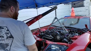 How To Pull A Nissan 300ZX Motor In 10 Minutes!