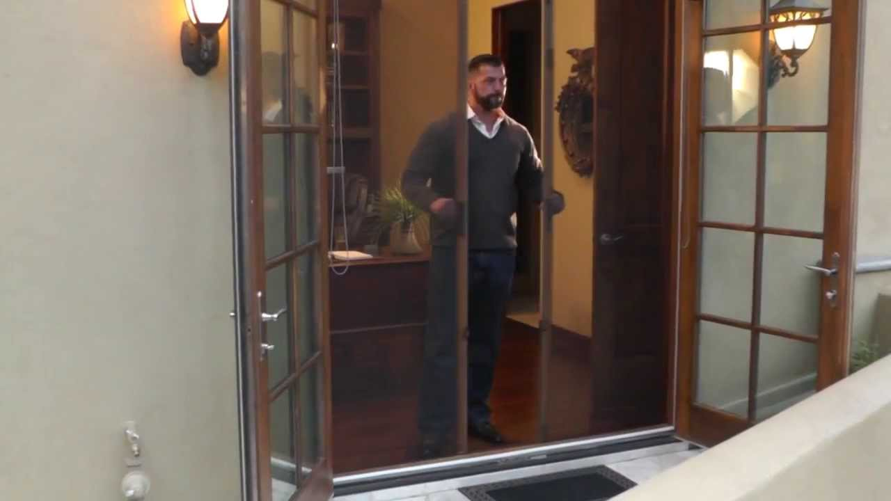 Odl Retractable Screen Door retractable screen door on office - youtube