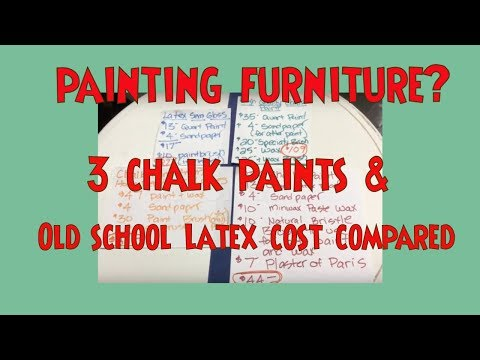 Chalk Paint Comparison - Annie Sloan vs DIY Chalkpaint & Everything In Between! Cost + Appearance!