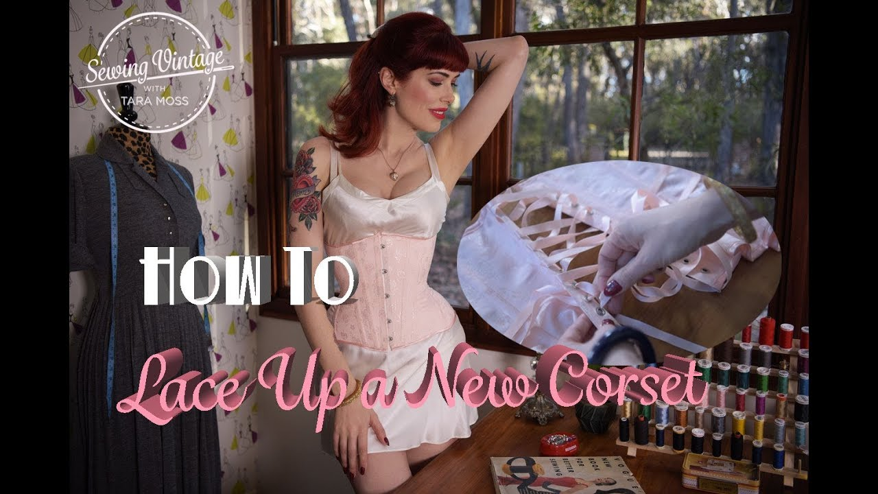 7a2d852b25 How to Lace Up a New Corset - YouTube