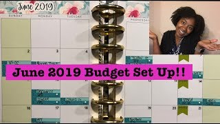 June 2019 Budget with Me|Monthly & Paycheck to Paycheck Setup!!