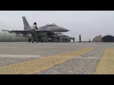 F-16 Fighting Falcons at Ben Guerir Air Base, Morocco