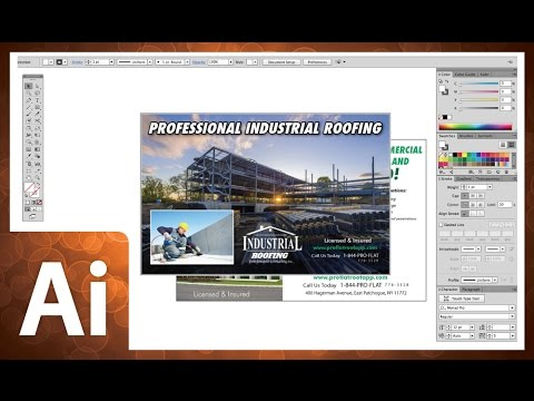 Professional Postcard Design In Adobe Illustrator CC 2014