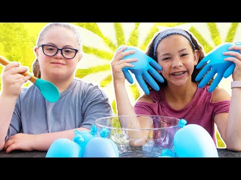 Blue Glove Slime!!! (Sarah Grace & Olivia Haschak)