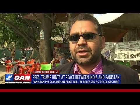 President Trump hints at peace between India and Pakistan