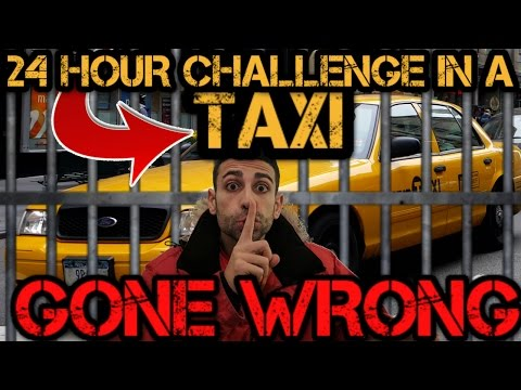 (CAUGHT!) CRAZY 24 HOUR OVERNIGHT CHALLENGE IN A TAXI GONE WRONG! | CAUGHT BY PASSENGER AND CHASED