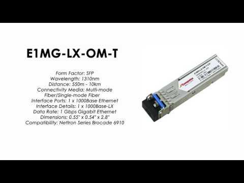 E1MG-LX-OM-T | Brocade Compatible 1000Base-LX SFP 1310nm