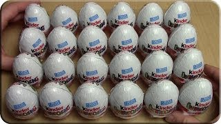Kinder Überraschung 24 Ü-eier Unboxing (Part 1)