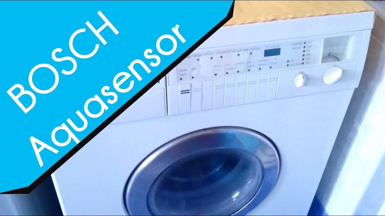 le dernier 33334 95fb5 BOSCH AQUASENSOR washing machine Demonstration & Review