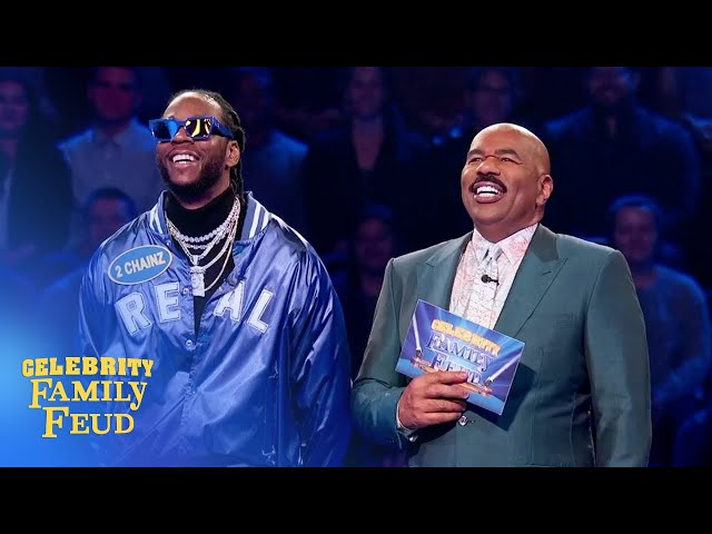 2 Chainz and Sir Tek win big! | Celebrity Family Feud