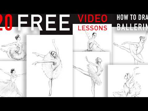 Presentation Of Free Video Drawing Series BALLET By Natalka Barvinok. Natalkabarvinok.com