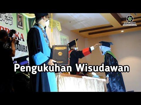 Pengukuhan Wisudawan Universitas Islam Madura Pamekasan, diiringi lagu Ghannili | Lensa UIM