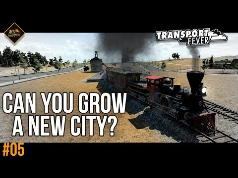 Growing a new city in Transport Fever | Metropolis gameplay