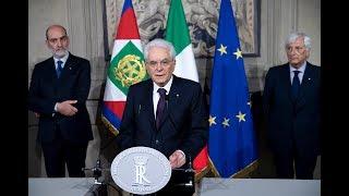 Dichiarazione alla stampa del Presidente della Repubblica Sergio Mattarella