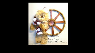 First Ever Dollar Tree Wagon Wheel Plus Learn How To Make Your Own Flowers!