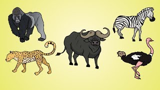 Draw Five: How to Draw African Animals 2