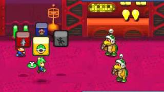 Mario & Luigi - Partners in Time [Boss 1] Hammer Brothers (NO DAMAGE)