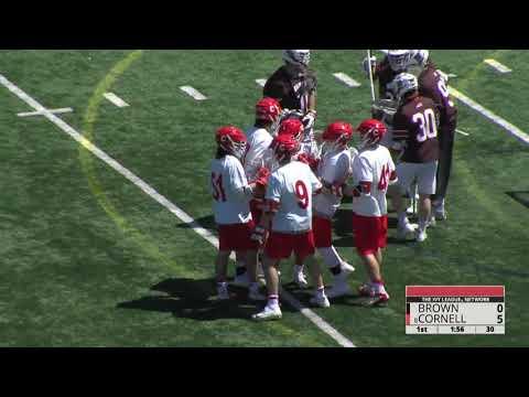 Highlights: Cornell MLAX vs Brown - 4/21/18