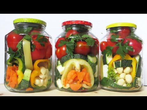 ЗИМОЙ ОБЛИЖЕШЬ ПАЛЬЧИКИ! Овощное Ассорти на Зиму ВКУСНЫЙ СОСТАВ !!! Ассорти из овощей на зиму САЛАТ