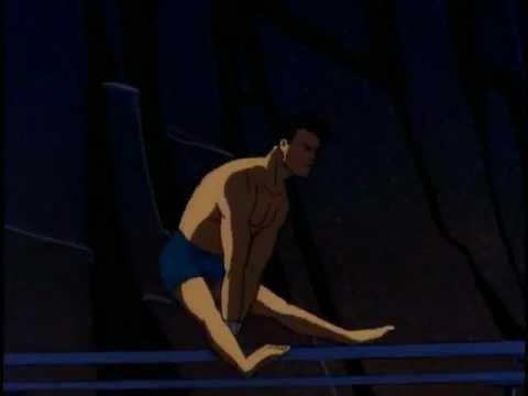Shirtless Dick Grayson Gymastics