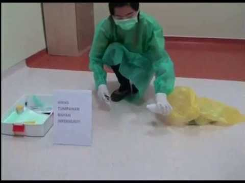 Biohazard Spillage Kit Urine Vomit Clean Up For Healt