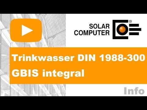 Trinkwasser DIN 1988-300 GBIS integral