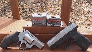 Short Barrel Ballistic Gel Test -9mm VS .357 Mag Winchester Silvertip