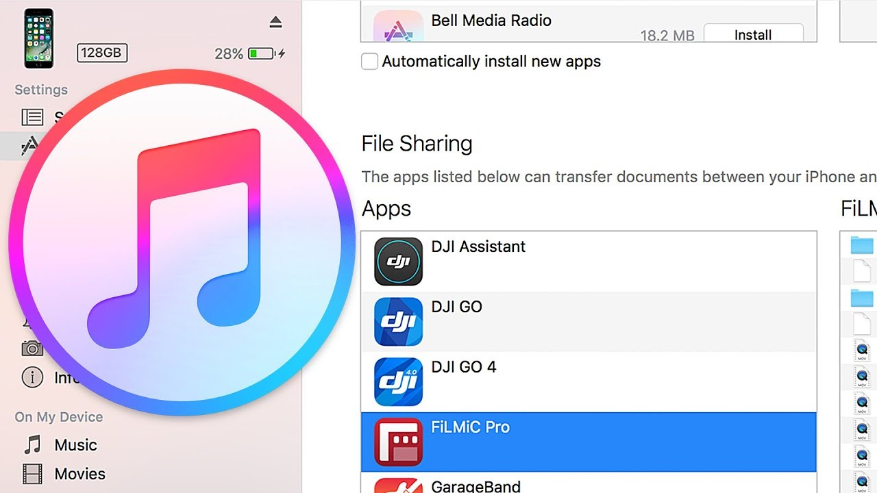 How to transfer files using iTunes File Sharing