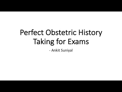 Perfect Obstetrics History Taking for Clinical Exams of MBBS/MS/DNB | Clinical Skills | OG