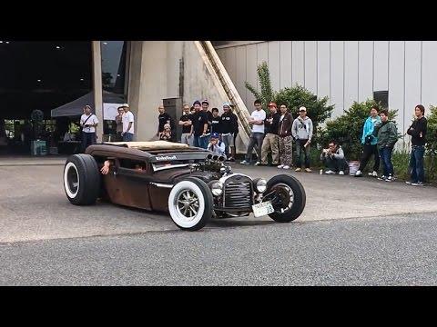 【ホットロッド サウンド】 wekfest japan2017 車高短 シャコタン Lowered exhaust Low car Hotrod