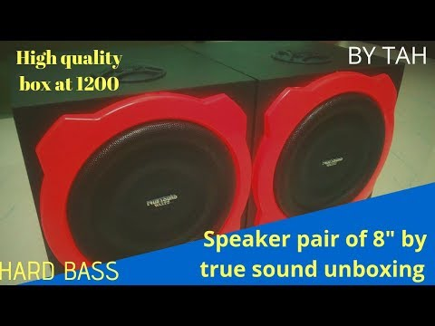 8 inch subwoofer speaker pairs by true sound unboxing //BY TECHNIQUES AT HOME