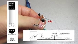 Подключаем датчик DS18B20 к Arduino и считываем показания(О том, как подключить к ардуино датчик температуры DALLAS DS18B20 и простой способ считывать показания c датчика...., 2014-08-25T22:04:10.000Z)
