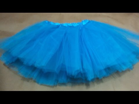f6aab8d79562 DIY - Como fazer saia de Tule ou Tutu ou Bailarina - YouTube