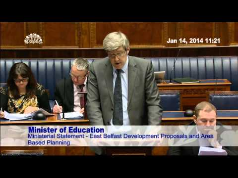 O'Dowd sets out way forward for east Belfast schools