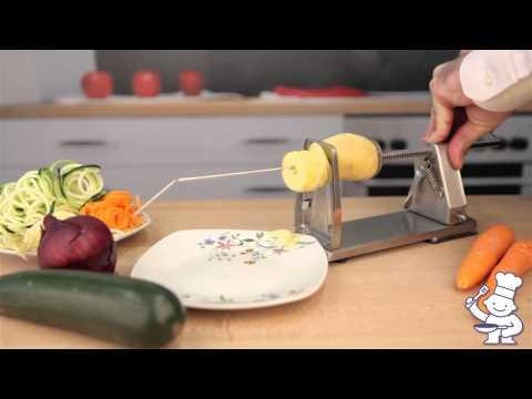 Grunwerg Stainless Steel Vegetable Spiral Slicer - VS 1201