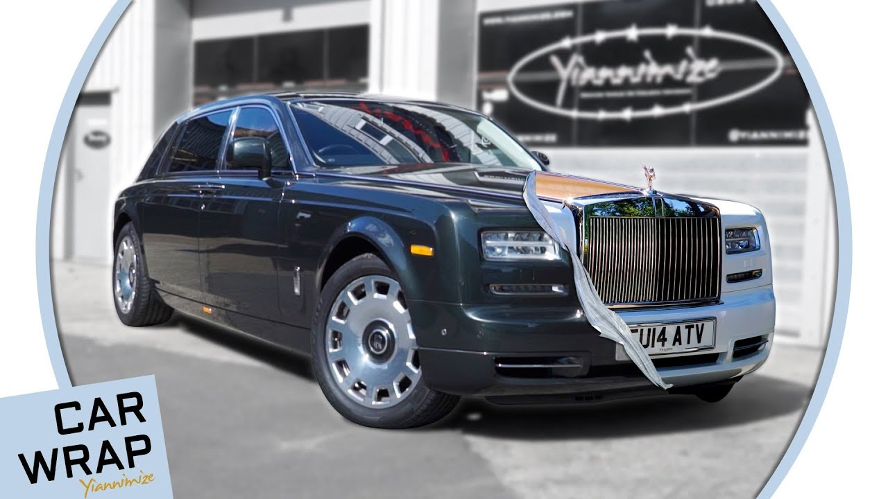 Rolls Royce Phantom wrapped Pearl White and Chrome Rose Gold - YouTube