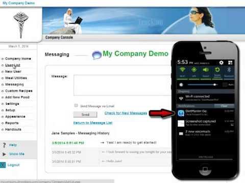 DietMaster Web & Go Mobile Messaging Platform