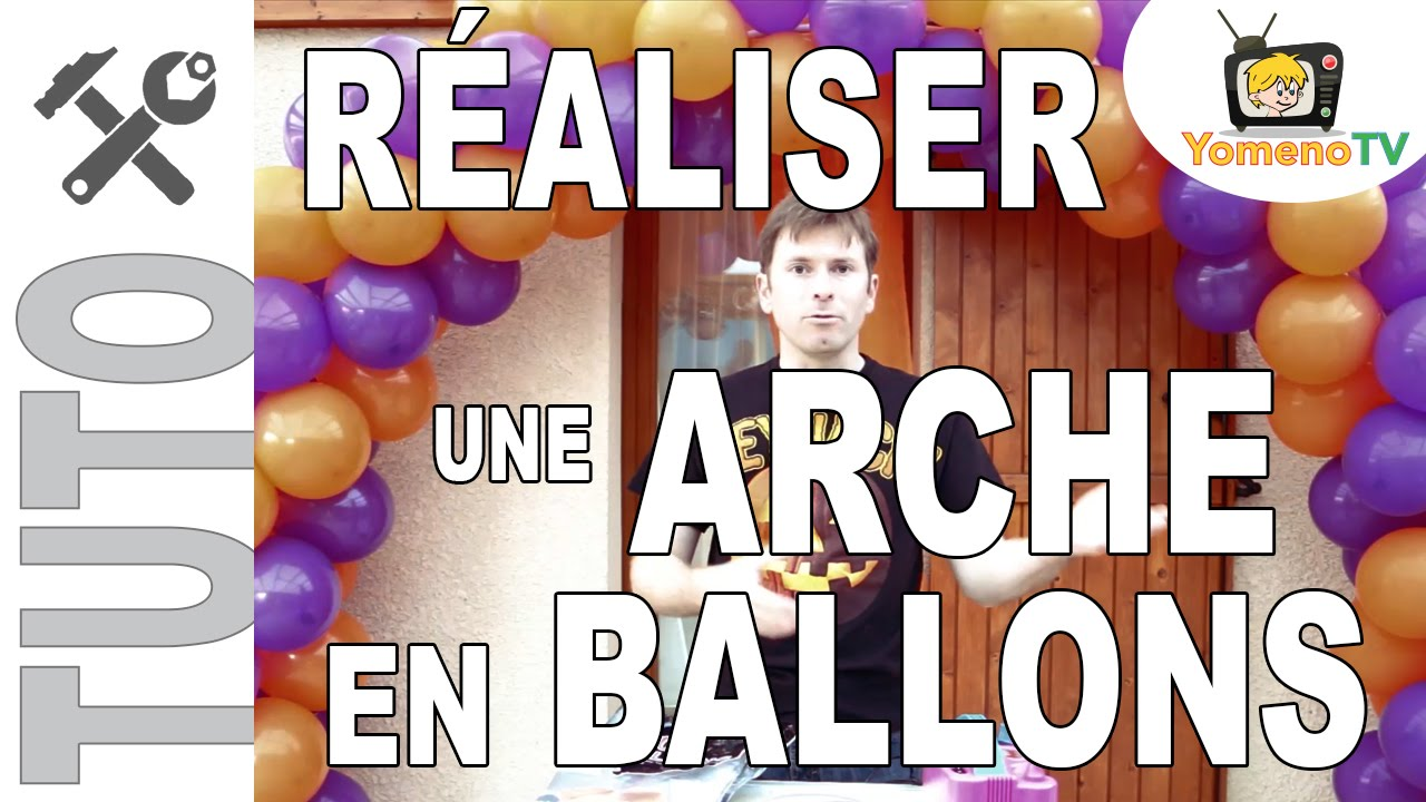 tuto 003 r aliser une arche en ballons youtube. Black Bedroom Furniture Sets. Home Design Ideas