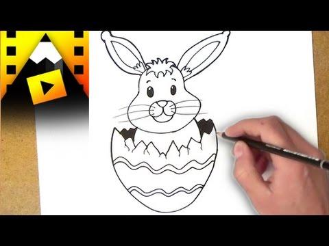 como dibujar un conejo de pascua | como dibujar un conejo de pascua ...