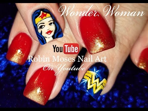 Wonder Woman Nails | Cute DIY Nail Art Design Tutorial