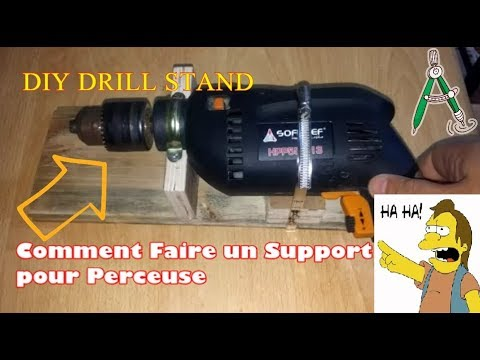 comment faire un support de perceuse homemade drill stand youtube. Black Bedroom Furniture Sets. Home Design Ideas