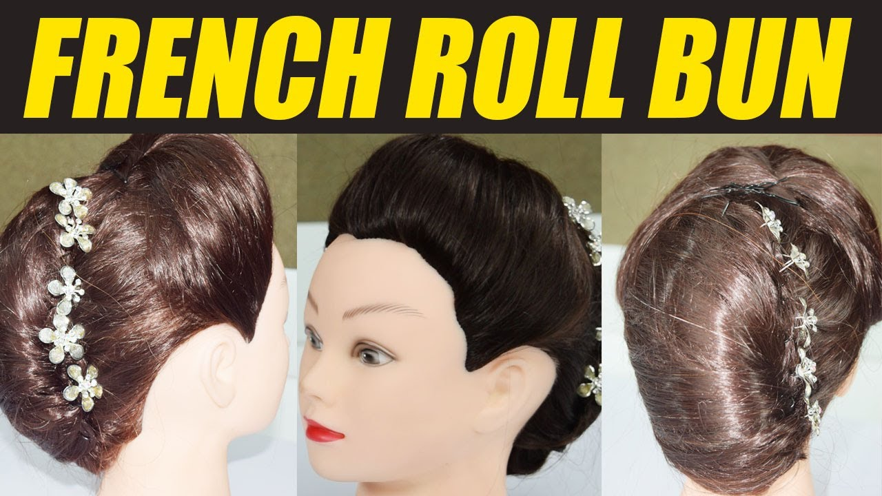 Hairstyle Tutorial French Roll Bun