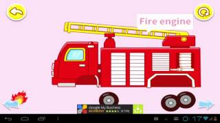 Транспорт для малышей Transport for toddlers   Police Car   Fire Truck   Train   Scooter